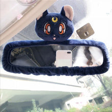 Load image into Gallery viewer, White/Pink/Blue Sailor Moon Car Interior Mirror Cover