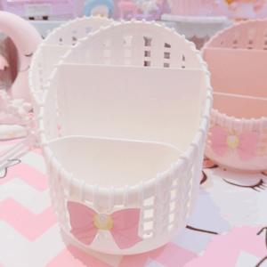 Pink Bow Hollow Pen Container