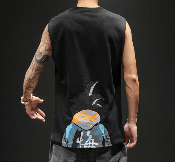 Dragon Ball Cartoon Printed Sleeveless T-shirt Vest
