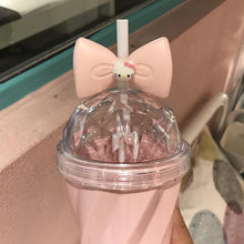 Load image into Gallery viewer, Pink KT Large Capacity Bowknot Straw Cup