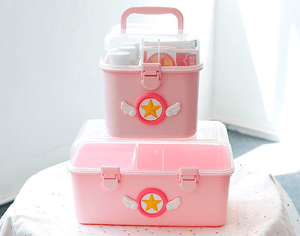 Sakura Pink Medical Interlayer Storage Box