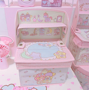 Kawaii Foldable Cosmetics Storage Box