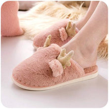 Load image into Gallery viewer, Elk Cotton Slippers