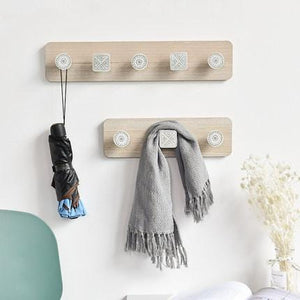 Wooden Hooks, Creative Door Shelving