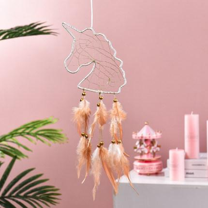 Unicorn Dream Catcher, Bedroom Creative Cute Feather Decorative Lights
