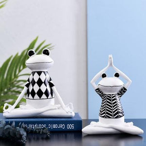 INS creative Yoga Frog Ornament