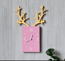 Load image into Gallery viewer, INS Creative  Leaves Wooden Square Clock