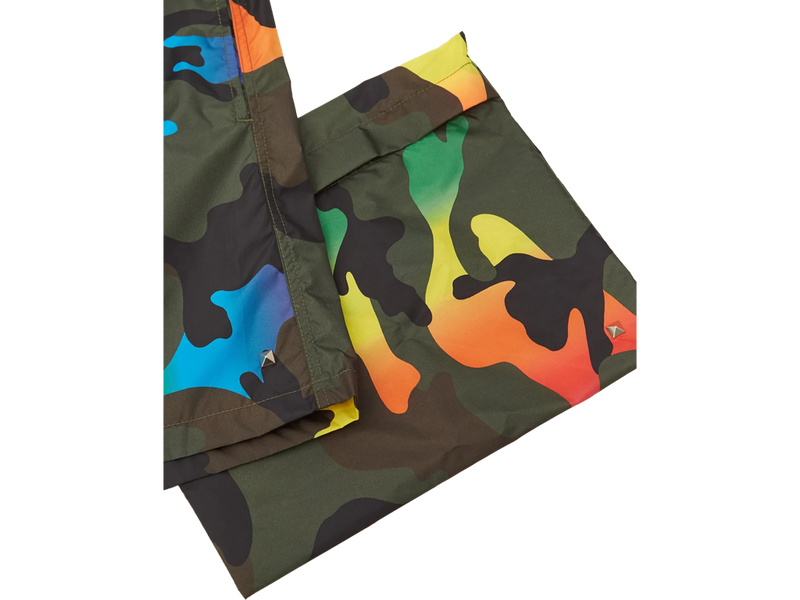 VALENTINO RAINBOW CAMO SWIM SHORTS