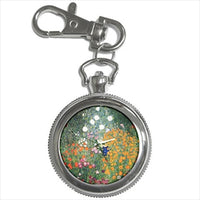 Flower Garden Gustav Klimt Art Nouveau Key Chain Watch