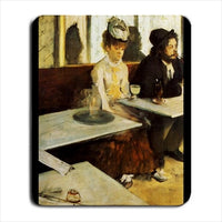 The Absinthe Drinker Edgar Degas Art Computer Mat Mouse Pad