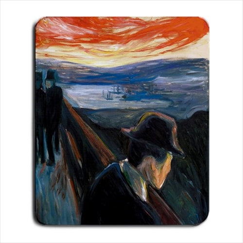 Despair Edvard Munch Art Computer Mat Mouse Pad