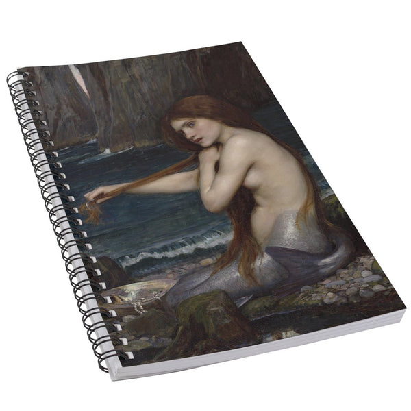 Mermaid John William Waterhouse Fine Art 50 Page Lined Spiral Notebook
