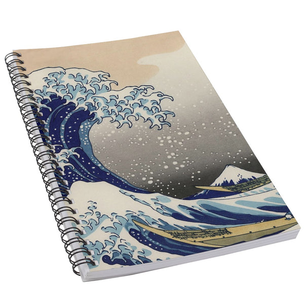 Great Wave Mount Fuji Hokusai Art 50 Page Lined Spiral Notebook