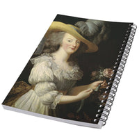 Queen Marie Antoinette Portrait Art 50 Page Lined Spiral Notebook