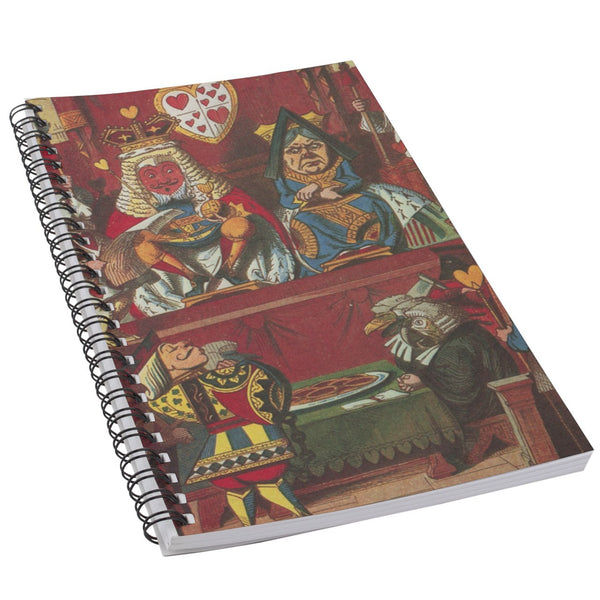 Queen And King Of Hearts Art 50 Page Lined Spiral Notebook