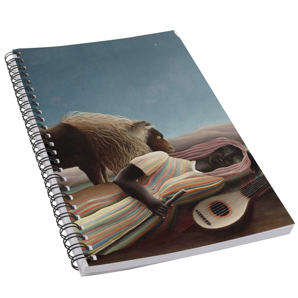 The Sleeping Gypsy Henri Rousseau Art 50 Page Lined Spiral Notebook