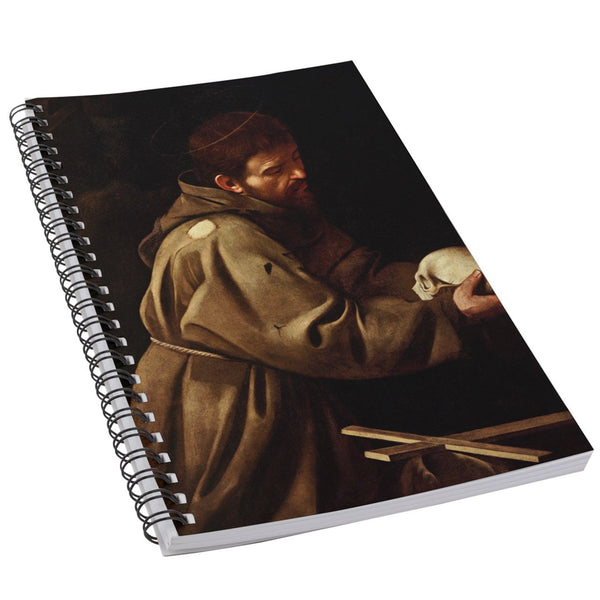 Saint Francis In Prayer Caravaggio Art Notebook