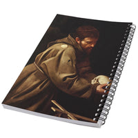 Saint Francis In Prayer Caravaggio Art 50 Page Lined Spiral Notebook