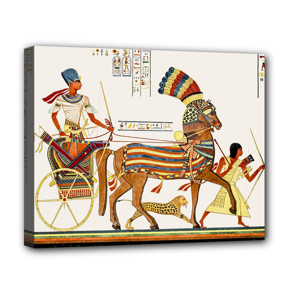 Egyptian Chariot Egypt Stretched Canvas Art Print 20 by 16 Inches