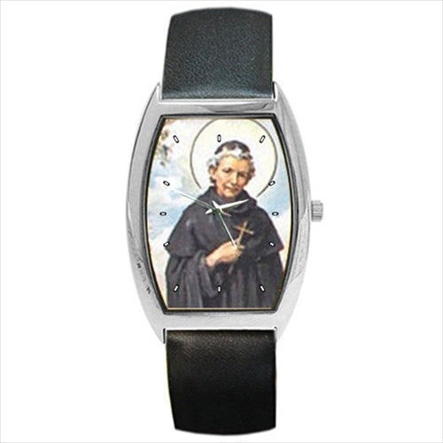 St Peregrine Patron Saint Of Cancer AIDS Barrel Style Wrist Watch