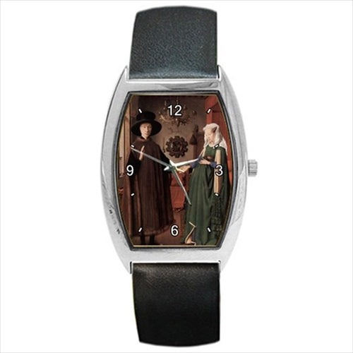 Arnolfini Portrait Jan van EYCK Art Barrel Style Wristwatch Unisex Watch