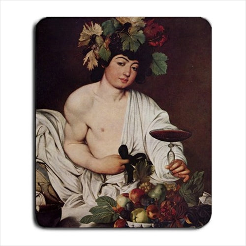 Bacchus God Of Wine Caravaggio Art Computer Mat Mouse Pad