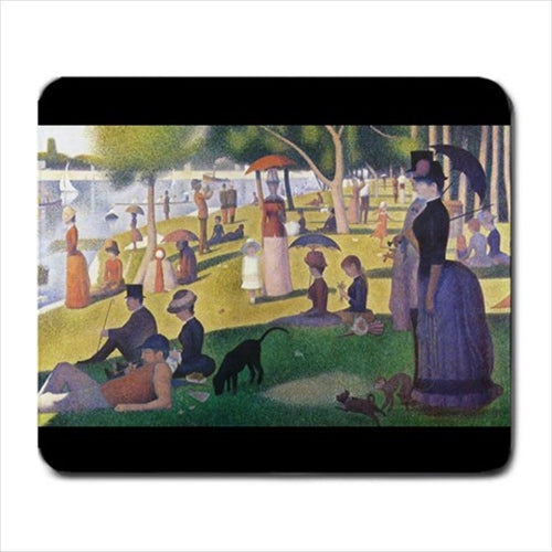 A Sunday Afternoon on the Island of La Grande Jatte Georges Seurat Art Computer Mat Mouse Pad