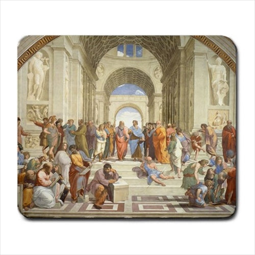 School Of Athens Raphael Art Computer Mat Mouse Pad