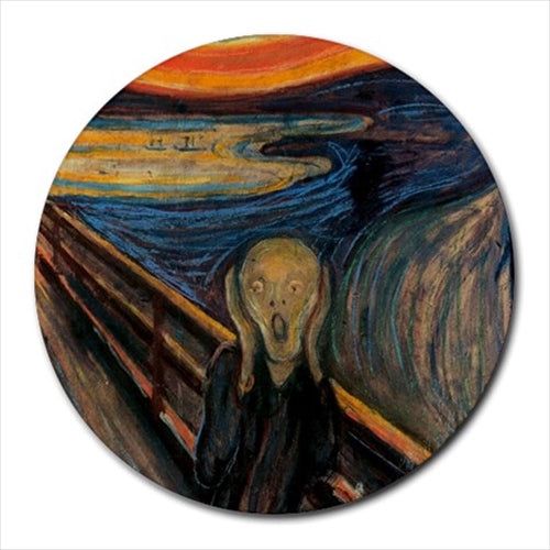 The Scream Edvard Munch Art Round Computer Mouse Pad