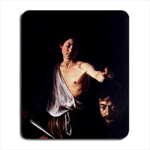 David With The Head Of Goliath Caravaggio Art Computer Mat Mouse Pad