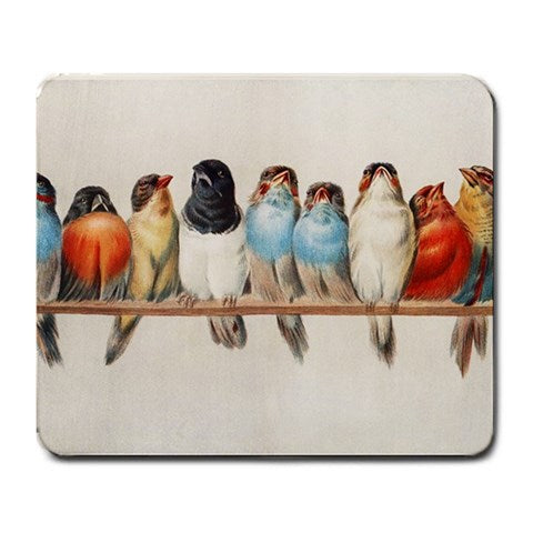 Song Birds Large Mouse Pad