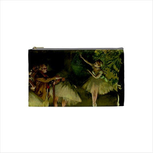 Ballet Rehearsal Edgar Degas Ballerina Art Cosmetic Trinket Zippered Pouch Bag
