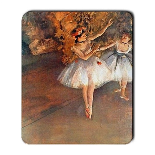 Two Dancers On Stage Edgar Degas Art Computer Mat Mouse Pad