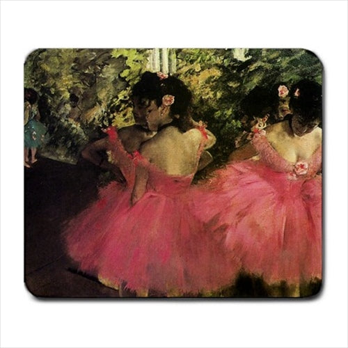 Dancers In Pink Edgar Degas Art Computer Mat Mouse Pad