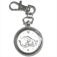 Cat Kitty Sleeping Illustration Art Key Chain Watch