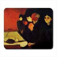 By The Death Bed Edvard Munch Art Computer Mat Mouse Pad