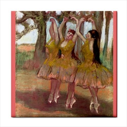 A Grecian Dance Degas Ballet Art Decorative Ceramic Tile