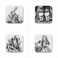 Alice In Wonderland Art Drink Coasters Rubber Beverage Anti Slip Variety Set A