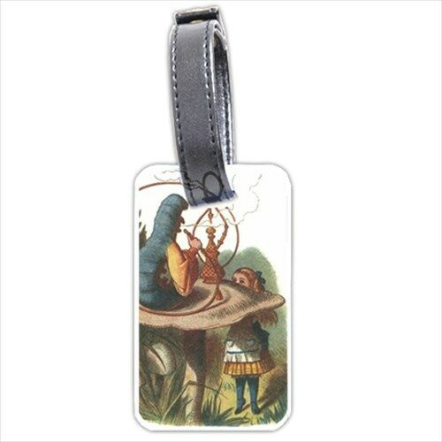 Alice In Wonderland Caterpillar Art Personalized Luggage Tag