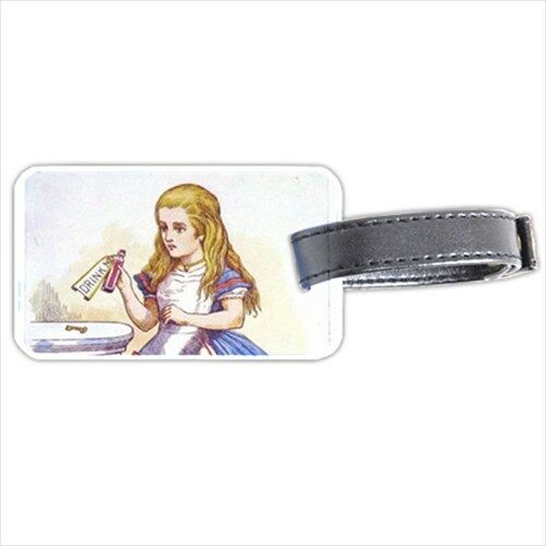 Alice In Wonderland Drink Me Personalized Luggage Tag