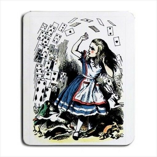 Alice In Wonderland Falling Cards Tinted Computer Mouse Pad Mat Mousepad New