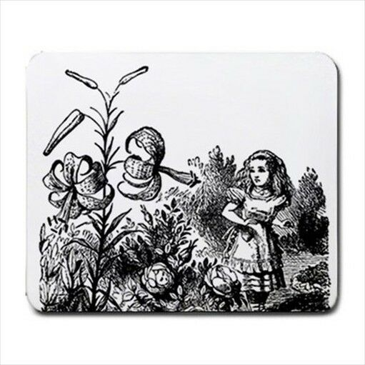 Alice In Wonderland Flower Garden Art Computer Mouse Pad