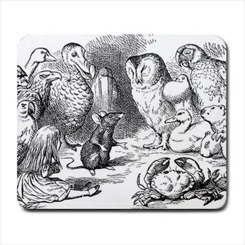 Alice In Wonderland Rat Owl Computer Mouse Pad Mat Mousepad New