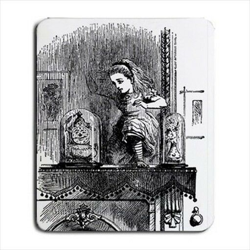 Alice Through The Mirror In Wonderland Computer Mouse Pad Mat