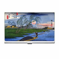 Ando Hiroshige Japanese Art Business Credit Card Holder Case