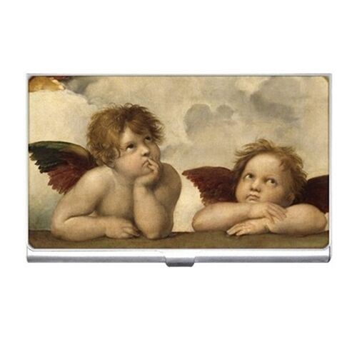 Angels Cherubs Sistine Madonna Raphael Art Business Card Case Holder