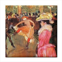 At The Moulin Rouge Toulouse Lautrec Art Ceramic Tile