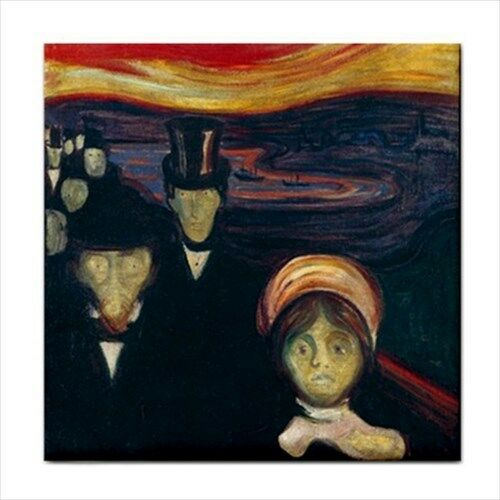 Axiety Edvard Munch Art Ceramic Tile