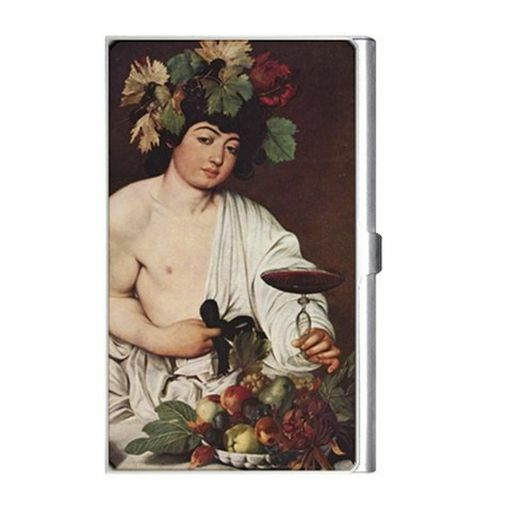Bacchus God Of Wine Caravaggio Art Business Credit Card Case