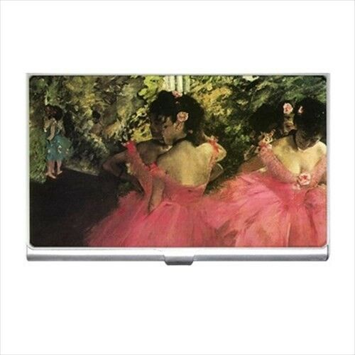 Ballet Dancers In Pink Degas Art Business Credit Card Holder